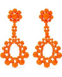 Ben-Amun - Beaded Silver-tone Earrings Bright Orange - Lyst