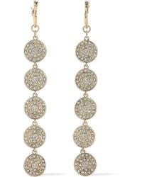 Luv Aj - Woman Gold-tone Crystal Earrings Gold - Lyst