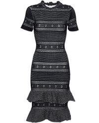 Raoul - Fluted Metallic Cotton-blend Dress - Lyst
