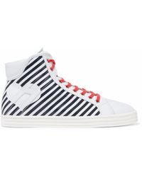 Hogan - Striped Leather High-top Sneakers - Lyst