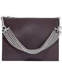 Alexander Wang - Chain-embellished Leather Shoulder Bag - Lyst