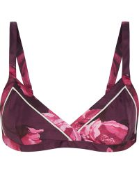 F.R.S For Restless Sleepers - Aglia Floral-print Silk-twill Bra Top - Lyst