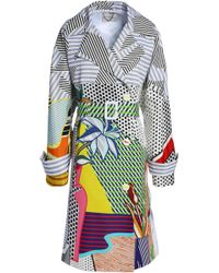 Mary Katrantzou - Double-breasted Printed Cotton-blend Coat Multicolor - Lyst
