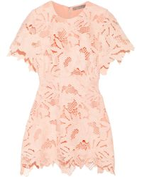 Lela Rose - Wool-blend Guipure Lace Top - Lyst
