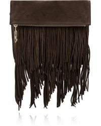 Elizabeth and James - Andrew Fringed Suede Clutch - Lyst