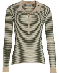 Ganni - Striped Knitted Jumper - Lyst