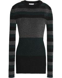Sonia Rykiel - Color-block Metallic Ribbed-knit Top - Lyst