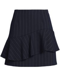 Claudie Pierlot - Layered Striped Twill Mini Skirt - Lyst