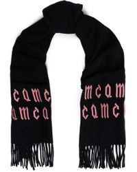 McQ - Embroidered Wool Scarf - Lyst