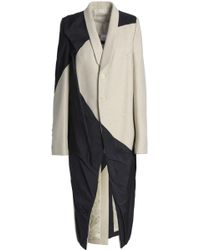Rick Owens - Panelled Wool-blend And Shell Coat - Lyst