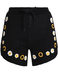 RED Valentino - Embroidered Cotton Shorts - Lyst