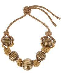 Lanvin - Gold-tone And Cord Necklace - Lyst