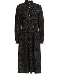 Vanessa Seward - Belted Printed Cotton And Silk-blend Dress - Lyst