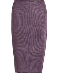 Barbara Casasola | Metallic Plissé-satin Pencil Skirt | Lyst