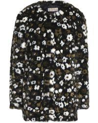 MICHAEL Michael Kors - Floral-print Faux Fur Coat - Lyst