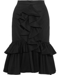 TOME | Ruffled Cotton-twill Skirt | Lyst