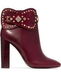 Tory Burch - Kingsbridge Studded Leather Ankle Boots - Lyst