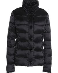 Love Moschino - Woman Quilted Shell Down Coat Black - Lyst