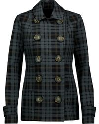 Bailey 44 - Checked Stretch-twill Coat - Lyst
