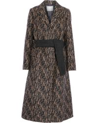 3.1 Phillip Lim - Slim Printed Wool-blend Coat - Lyst