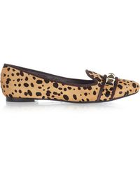Tory Burch - - Asher Cheetah-print Calf Hair Slippers - Tan - Lyst