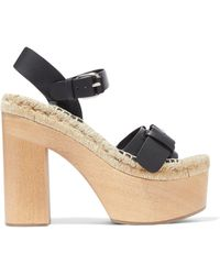 Paloma Barceló - Lucia Leather Platform Sandals - Lyst