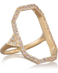 Elizabeth and James - Nyos Gold-plated Topaz Ring - Lyst