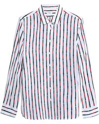 Equipment - Striped Silk Crepe De Chine Shirt - Lyst