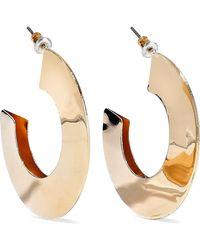 Kenneth Jay Lane - Woman Gold-tone Hoop Earrings Gold - Lyst