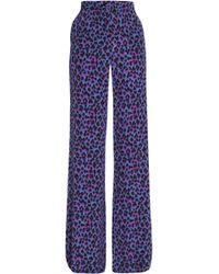 Vanessa Seward - Leopard-print Silk Wide-leg Trousers - Lyst