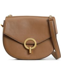 bff1f2f68b Sandro - Woman Leather Shoulder Bag Light Brown - Lyst