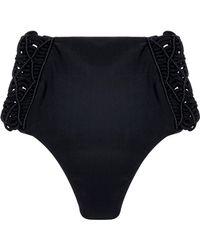 Mikoh Swimwear - Macramé-trimmed High-rise Bikini Briefs - Lyst