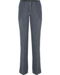 Theory - Pajeema Striped Silk Straight-leg Trousers - Lyst