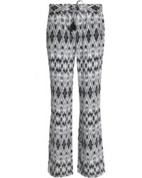 Joie - Printed Silk Crepe De Chine Bootcut Trousers - Lyst