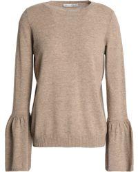 Autumn Cashmere - Fluted Mélange Cashmere Sweater - Lyst