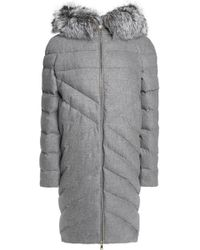 Vionnet - Faux Fur-trimmed Hooded Quilted Wool And Cashmere-blend Coat - Lyst