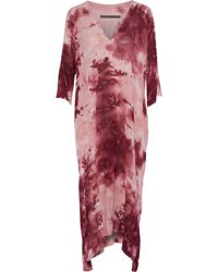 Enza Costa - Woman Tie-dyed Crepe Maxi Dress Pink Size 0 - Lyst