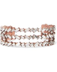 Erickson Beamon - War Of Roses Rose Gold-plated Swarovski Crystal Cuff - Lyst