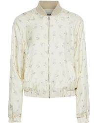 Elizabeth and James - Jacque Floral-print Silk-twill Bomber Jacket - Lyst