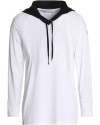 Monreal London - Woman Perforated Stretch Hooded Sweatshirt White - Lyst