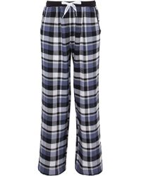 DKNY - Checked Flannel Pajama Pants - Lyst