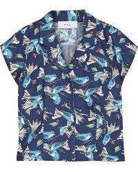Title A - Lady Printed Cotton-poplin Shirt - Lyst