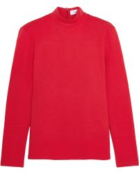 Title A - Stretch-cotton Jersey Top - Lyst