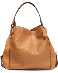 COACH - Panelled Leather And Suede Tote - Lyst