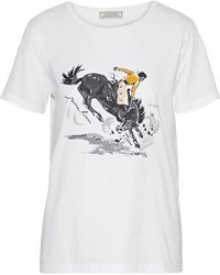 Nina Ricci - Sequin-embellished Printed Cotton-jersey T-shirt - Lyst