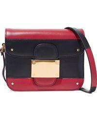 Valentino - Rivet Color-block Leather Shoulder Bag - Lyst