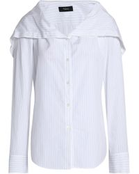 d49b1df760a340 Theory Silk Crepe De Chine Shirt in White - Lyst