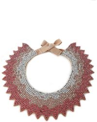 Valentino - Crystal And Satin Necklace - Lyst