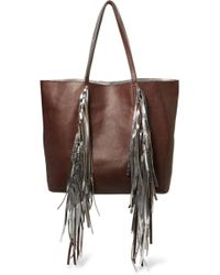 Sara Battaglia - Fringed Leather Tote - Lyst