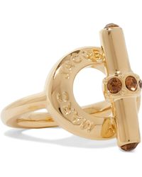 Marc By Marc Jacobs - Toggle Gold-tone Crystal Ring - Lyst